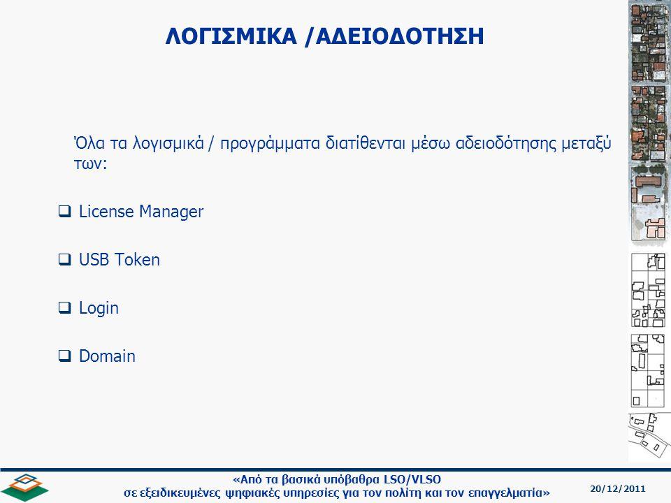 ΛΟΓΙΣΜΙΚΑ /ΑΔΕΙΟΔΟΤΗΣΗ
