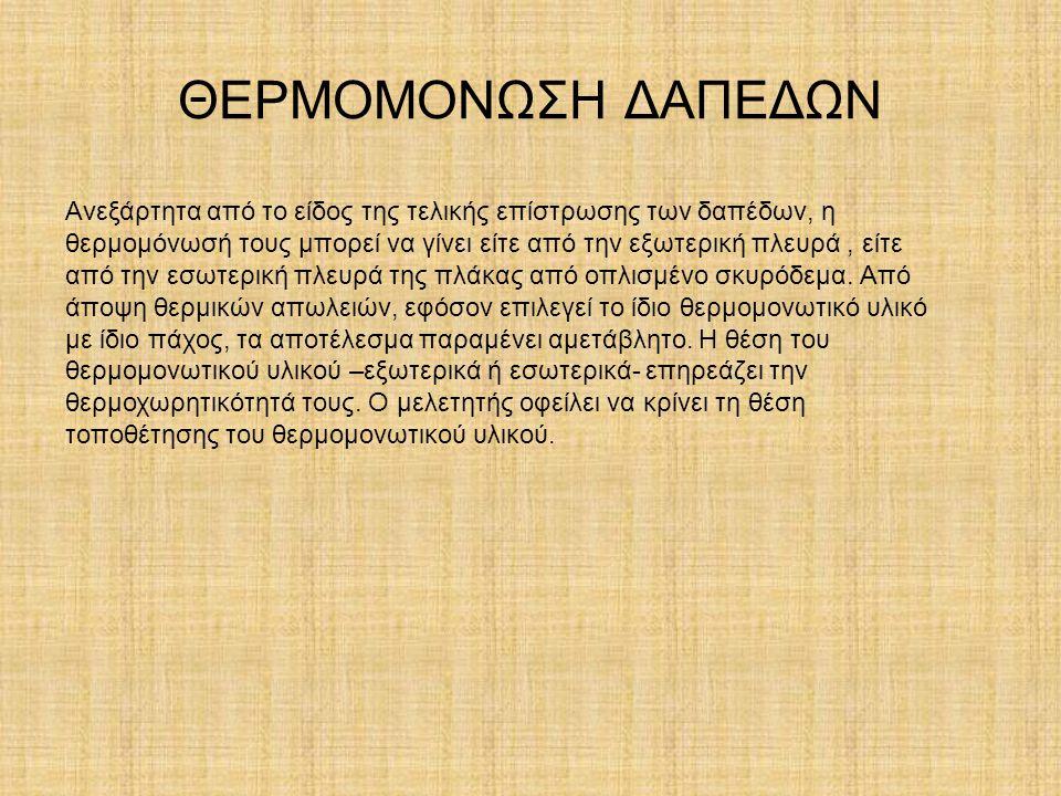 ΘΕΡΜΟΜΟΝΩΣΗ ΔΑΠΕΔΩΝ