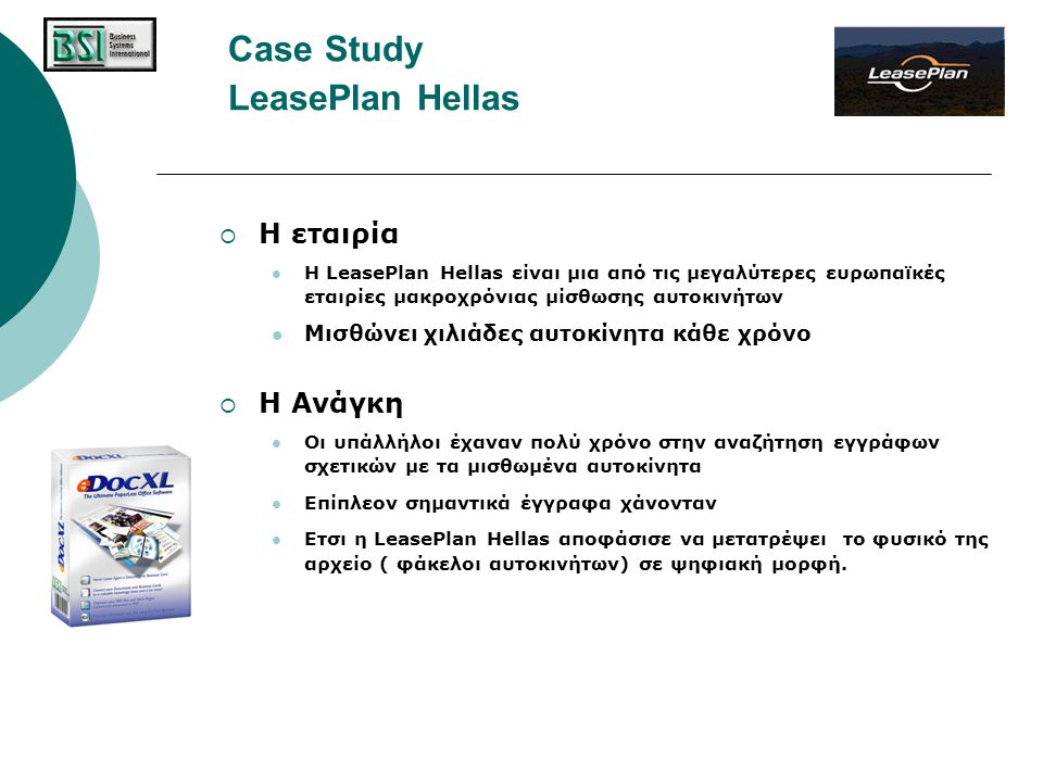Case Study LeasePlan Hellas