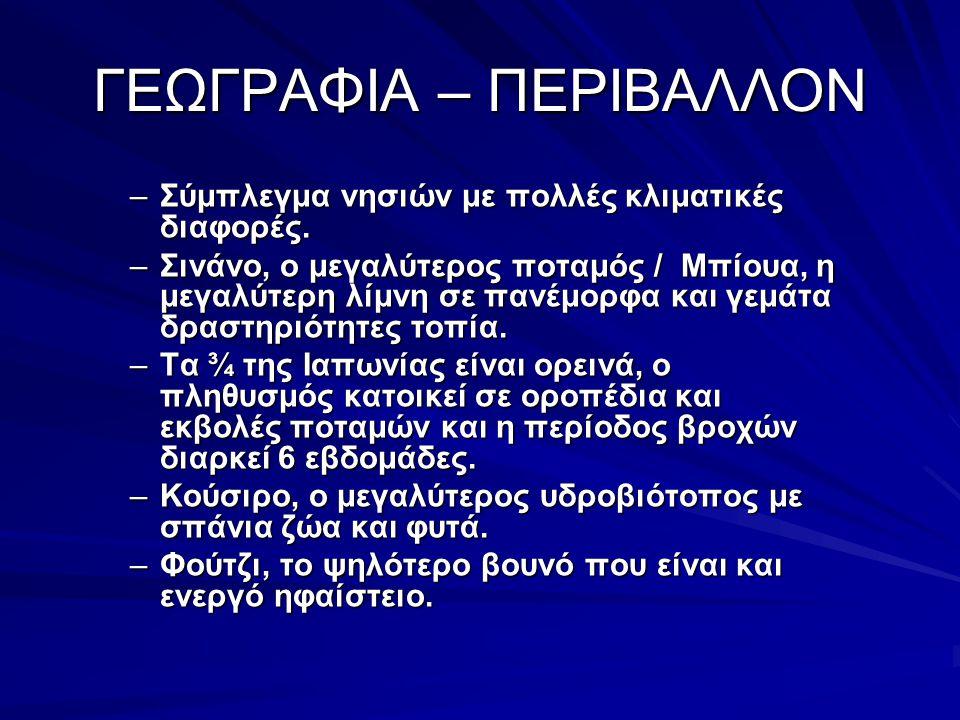 ΓΕΩΓΡΑΦΙΑ – ΠΕΡΙΒΑΛΛΟΝ