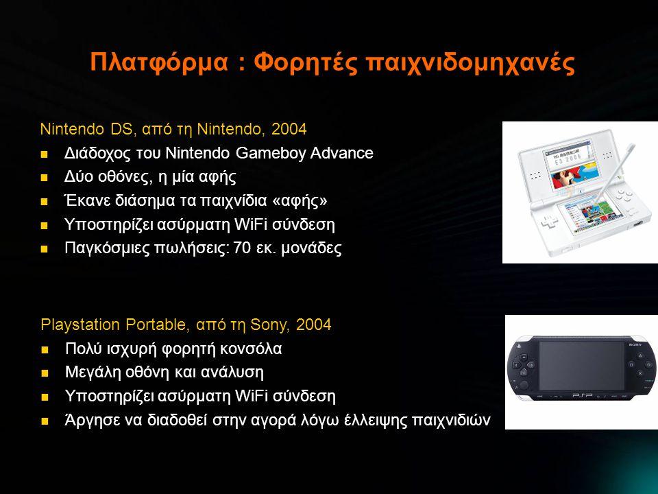 Πλατφόρμα : Φορητές παιχνιδομηχανές