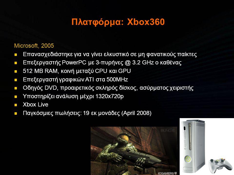 Πλατφόρμα: Xbox360 Microsoft, 2005