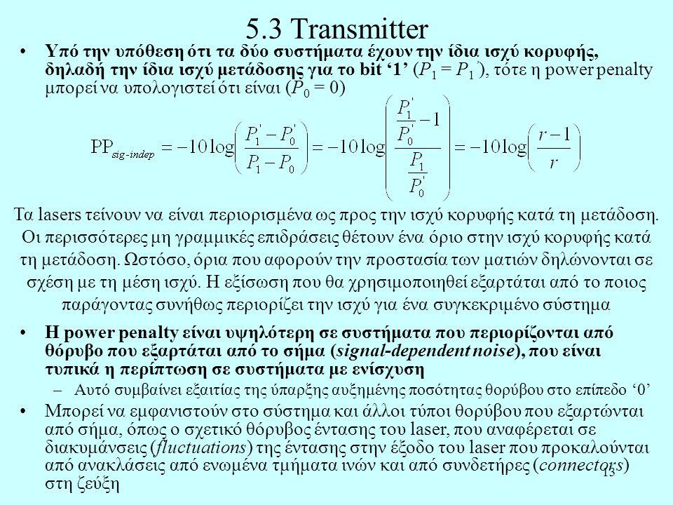 5.3 Transmitter