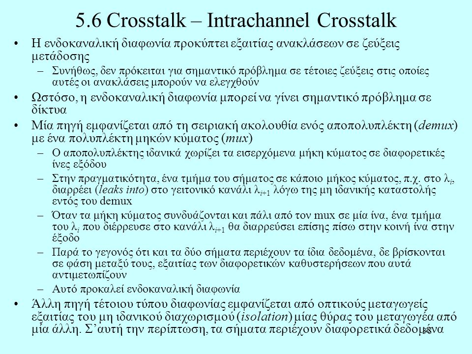 5.6 Crosstalk – Intrachannel Crosstalk