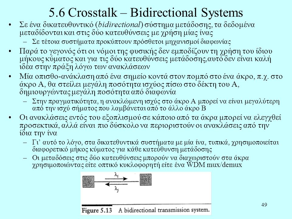 5.6 Crosstalk – Bidirectional Systems