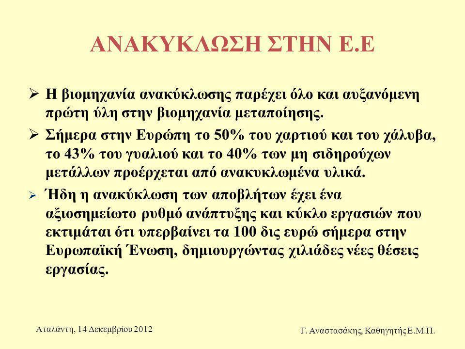 Γ. Αναστασάκης, Καθηγητής Ε.Μ.Π.