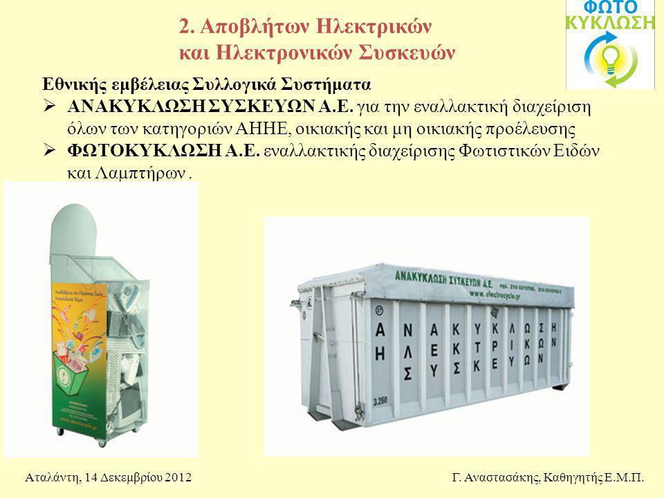 2. Αποβλήτων Ηλεκτρικών και Ηλεκτρονικών Συσκευών
