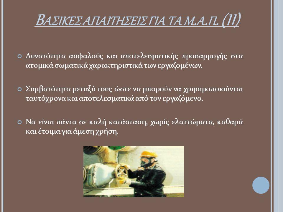 Βασικεσ απαιτησεισ για τα μ.α.π. (II)