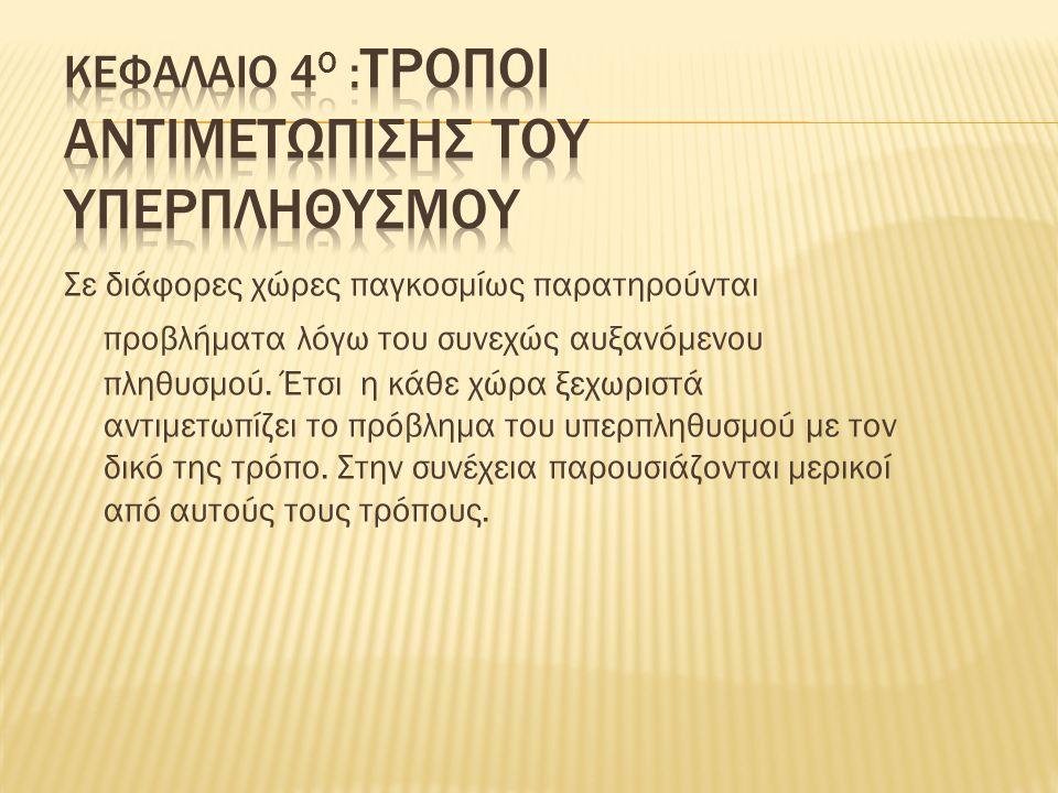 ΚΕΦΑΛΑΙΟ 4Ο :ΤΡΟΠΟΙ ΑΝΤΙΜΕΤΩΠΙΣΗΣ ΤΟΥ ΥΠΕΡΠΛΗΘΥΣΜΟΥ