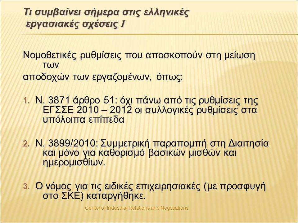 Τι συμβαίνει σήμερα στις ελληνικές εργασιακές σχέσεις Ι