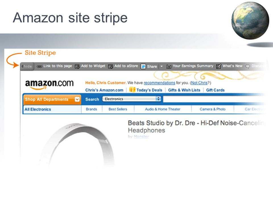 Amazon site stripe