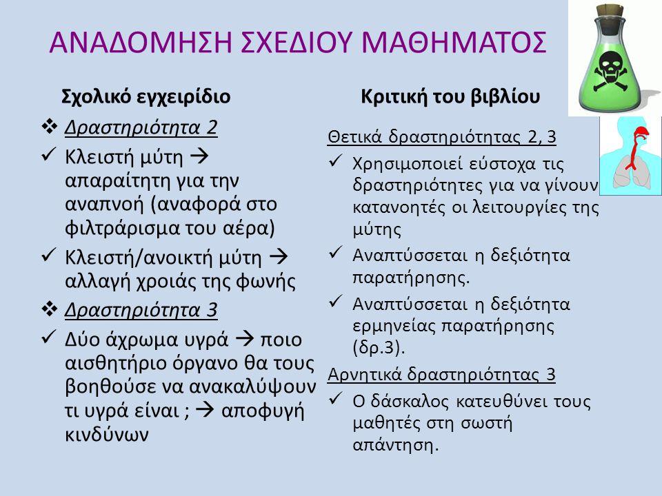 ΑΝΑΔΟΜΗΣΗ ΣΧΕΔΙΟΥ ΜΑΘΗΜΑΤΟΣ