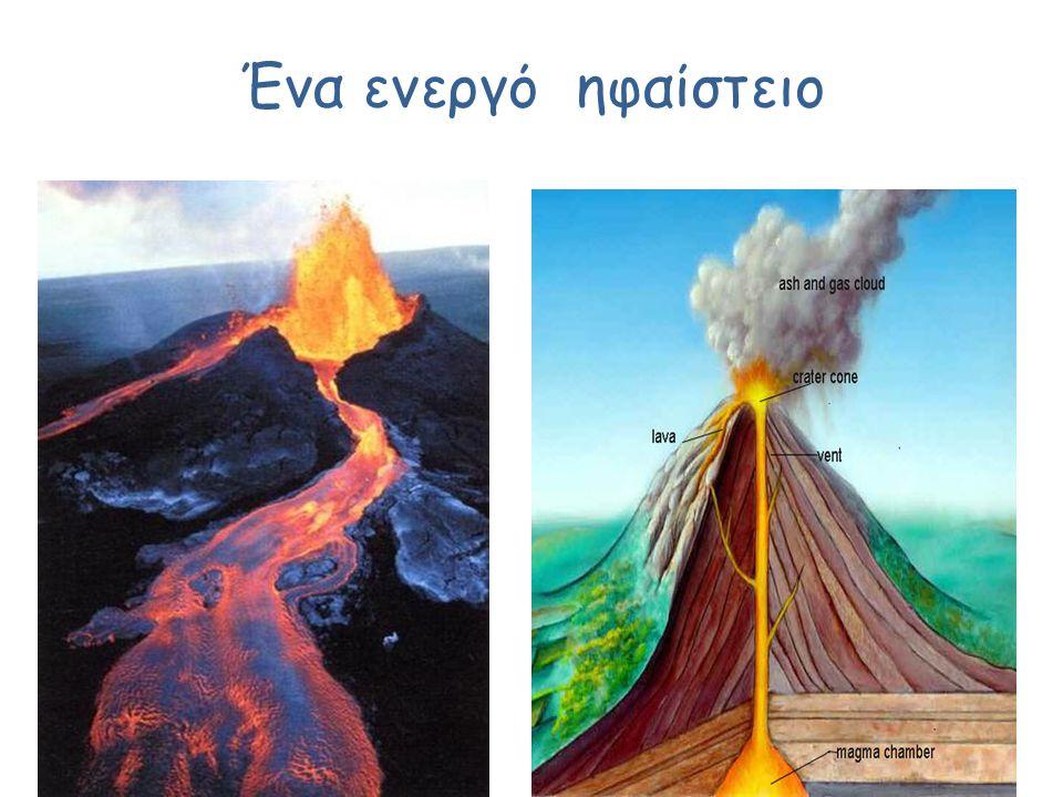 Ένα ενεργό ηφαίστειο