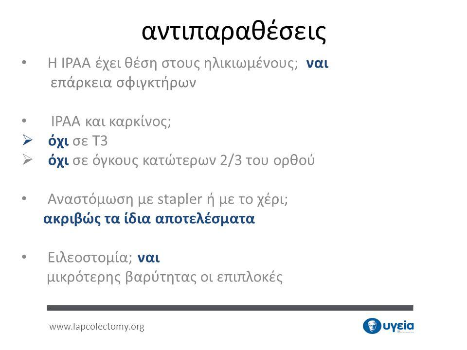 αντιπαραθέσεις Η IPAA έχει θέση στους ηλικιωμένους; ναι
