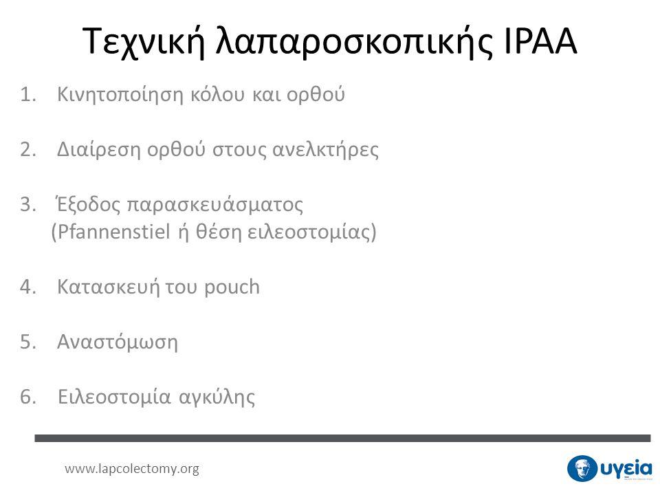 Τεχνική λαπαροσκοπικής IPAA