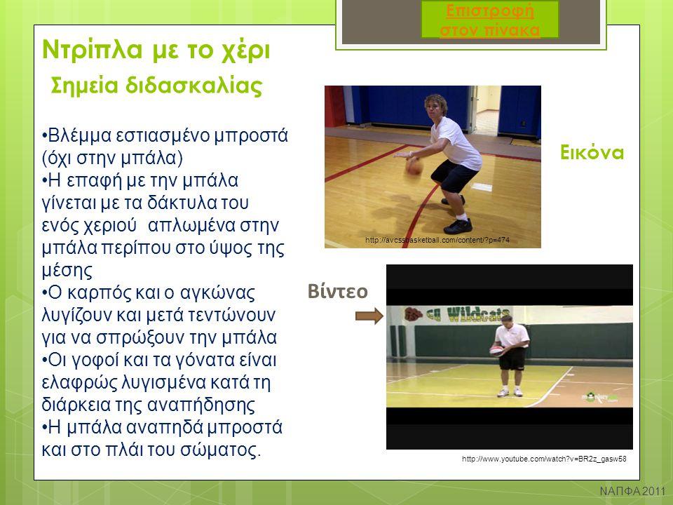 Ντρίπλα με το χέρι Σημεία διδασκαλίας Βίντεο Εικόνα