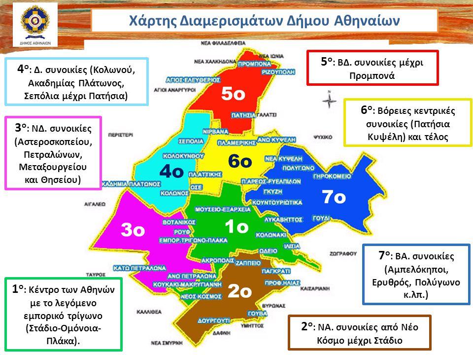 Χάρτης Διαμερισμάτων Δήμου Αθηναίων