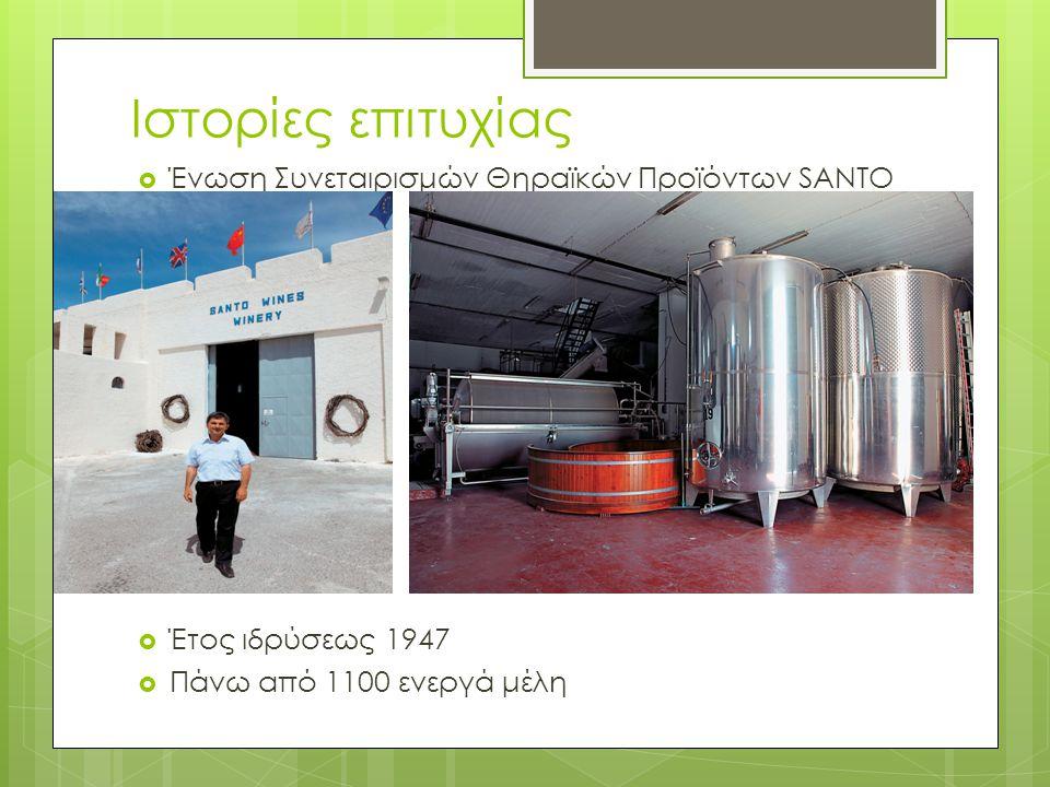 Ιστορίες επιτυχίας Ένωση Συνεταιρισμών Θηραϊκών Προϊόντων SANTO