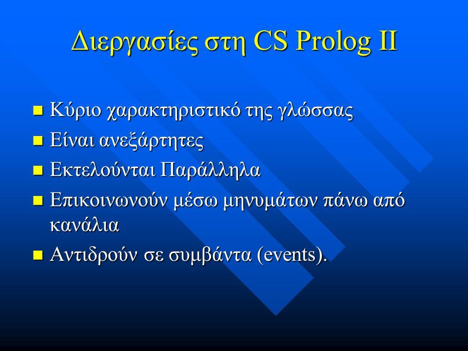 Διεργασίες στη CS Prolog II