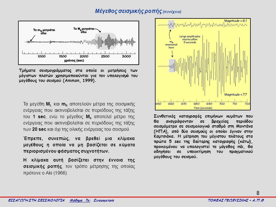 Μέγεθος σεισμικής ροπής (συνέχεια)