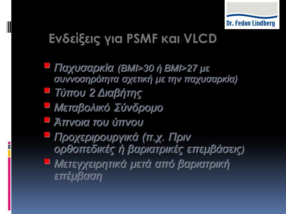 Ενδείξεις για PSMF και VLCD