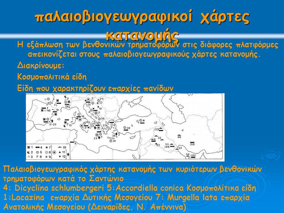παλαιοβιογεωγραφικοί χάρτες κατανομής