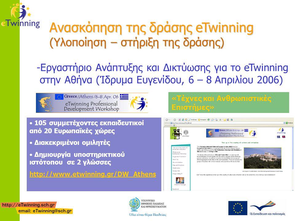 Ανασκόπηση της δράσης eTwinning (Υλοποίηση – στήριξη της δράσης)