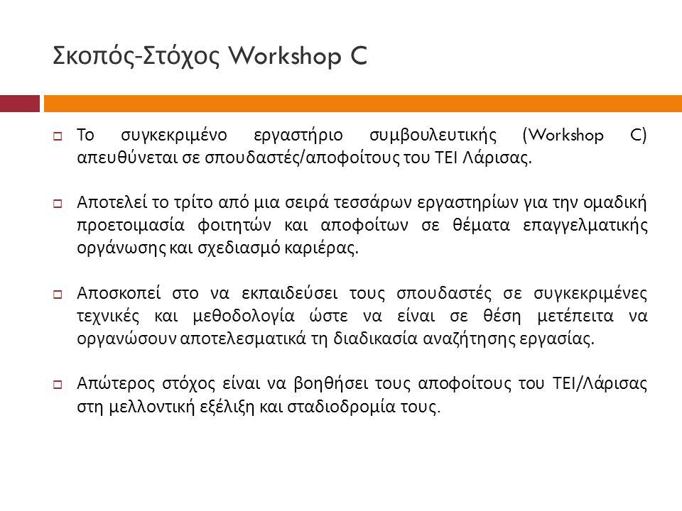 Σκοπός-Στόχος Workshop C