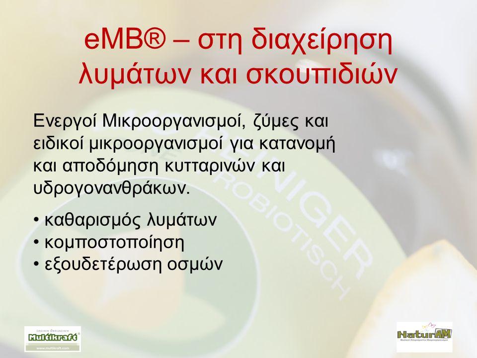 eMB® – στη διαχείρηση λυμάτων και σκουπιδιών