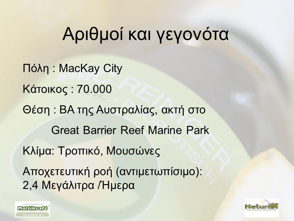 Αριθμοί και γεγονότα Πόλη : MacKay City Κάτοικος : 70.000