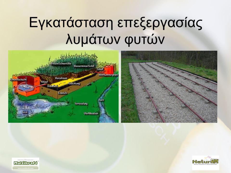 Εγκατάσταση επεξεργασίας λυμάτων φυτών
