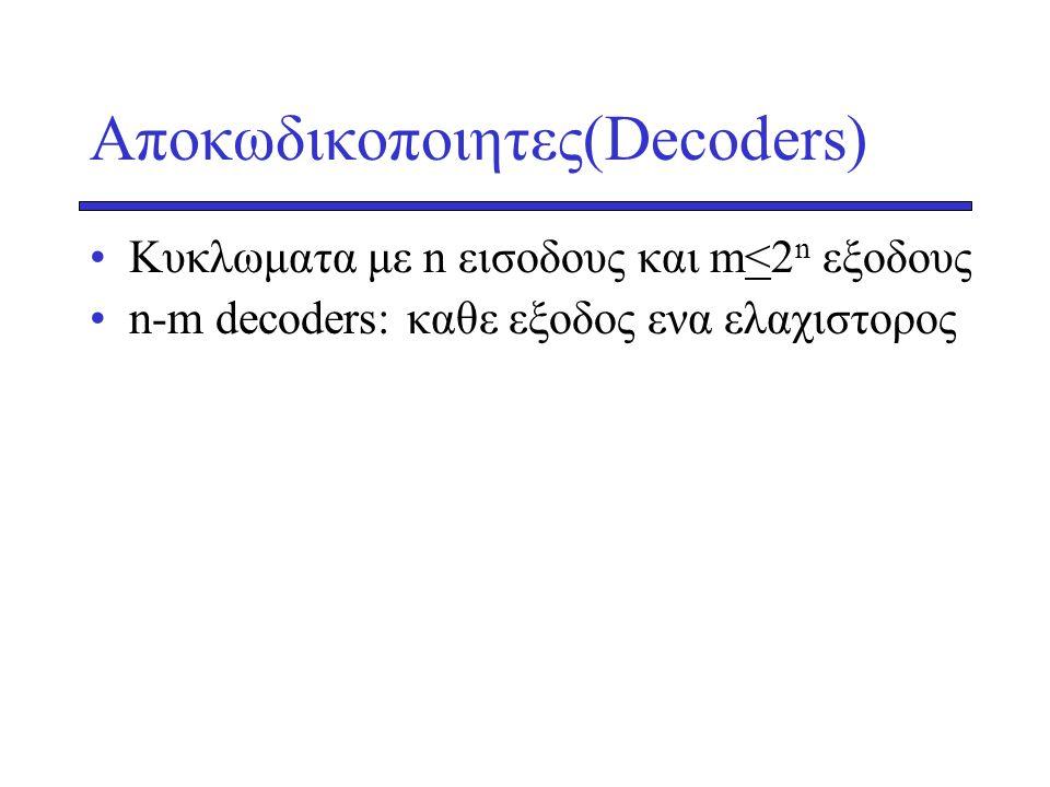 Αποκωδικοποιητες(Decoders)
