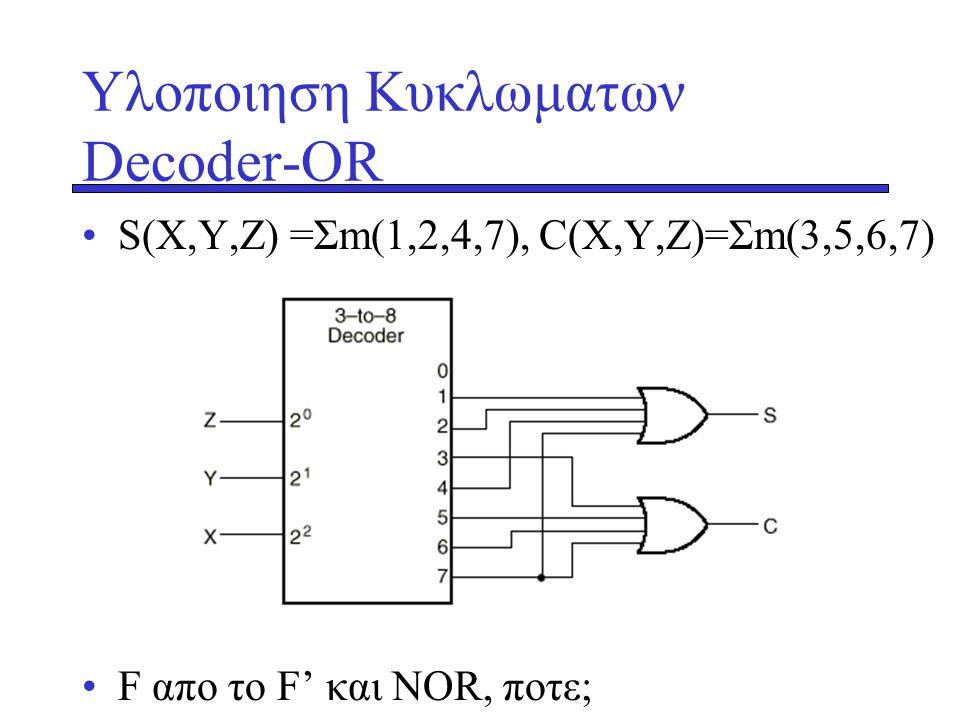 Υλοποιηση Κυκλωματων Decoder-OR