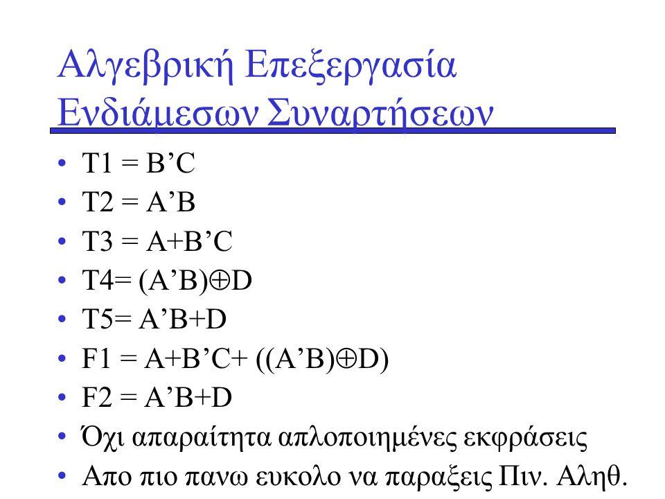 Αλγεβρική Επεξεργασία Ενδιάμεσων Συναρτήσεων