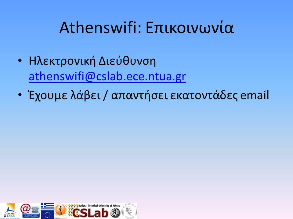 Athenswifi: Επικοινωνία
