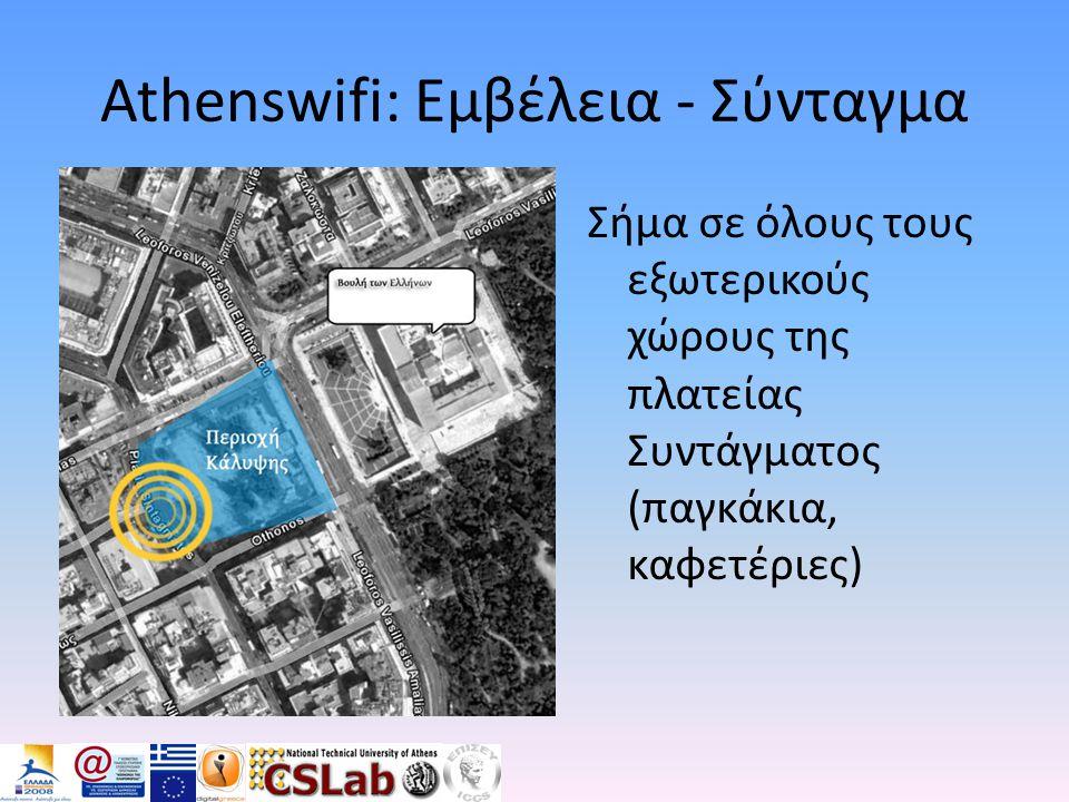 Athenswifi: Εμβέλεια - Σύνταγμα