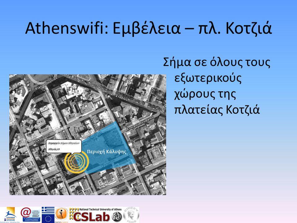Athenswifi: Εμβέλεια – πλ. Κοτζιά