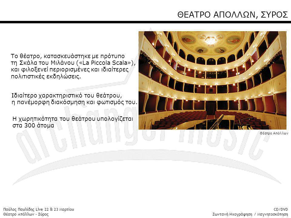 ΘΕΑΤΡΟ ΑΠΟΛΛΩΝ, ΣΥΡΟΣ Το θέατρο, κατασκευάστηκε με πρότυπο