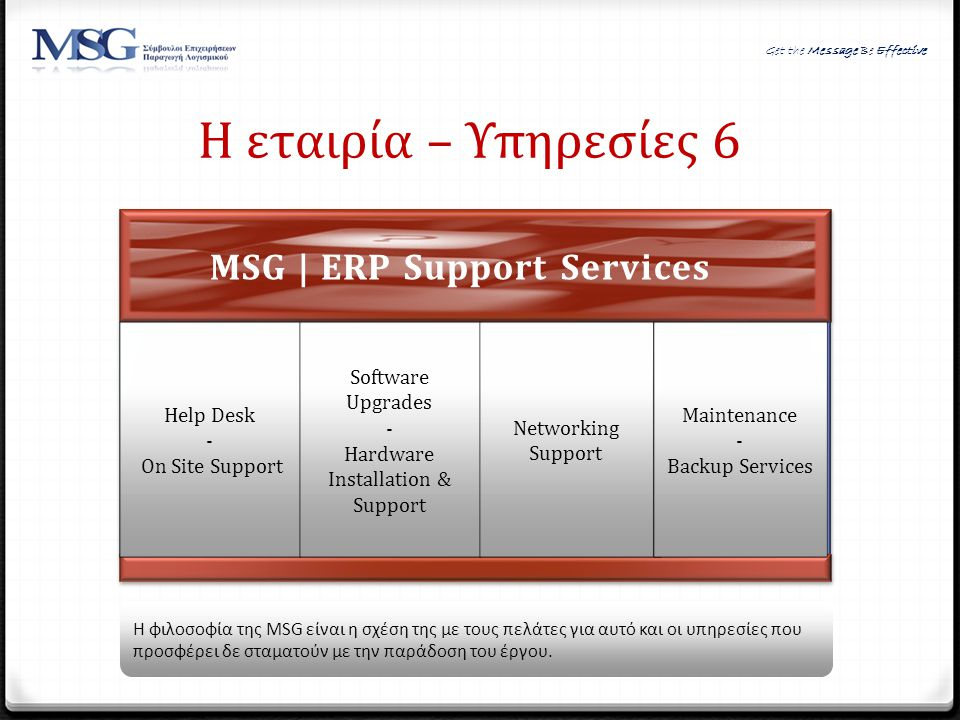 MSG | ERP Support Services