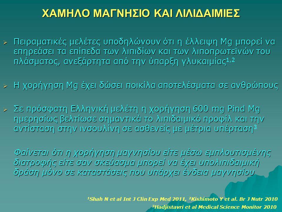 ΧΑΜΗΛΟ ΜΑΓΝΗΣΙΟ ΚΑΙ ΛΙΛΙΔΑΙΜΙΕΣ