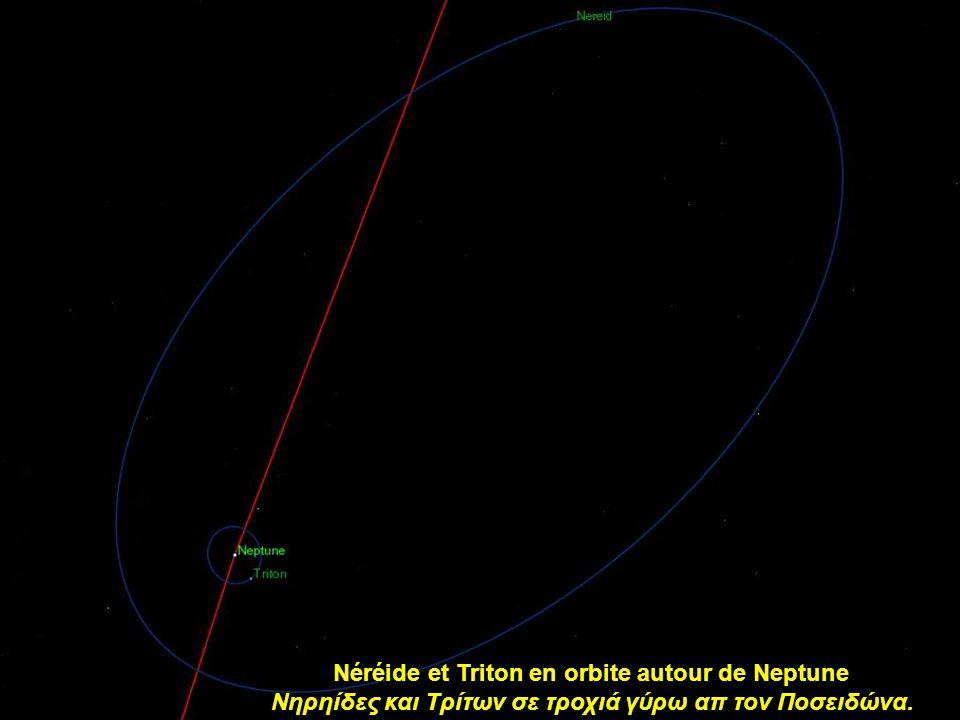 Néréide et Triton en orbite autour de Neptune