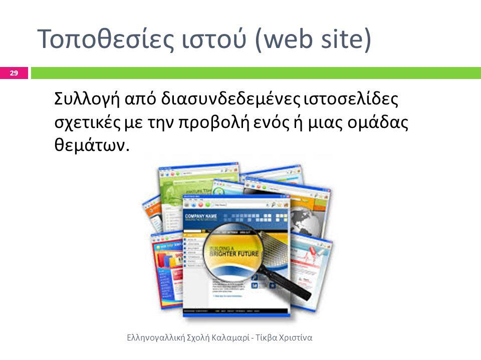 Τοποθεσίες ιστού (web site)
