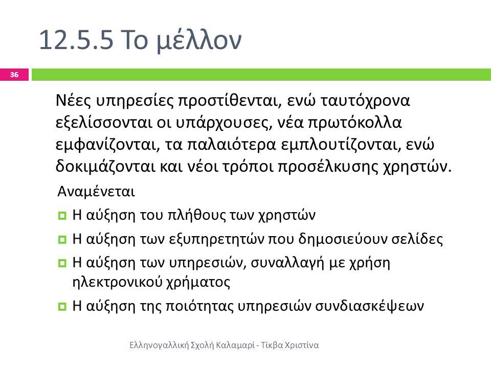 12.5.5 Το μέλλον
