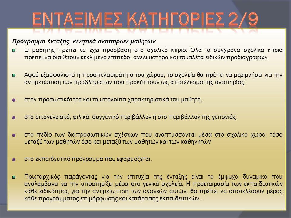 ΕΝΤΑΞΙΜΕΣ ΚΑΤΗΓΟΡΙΕΣ 2/9