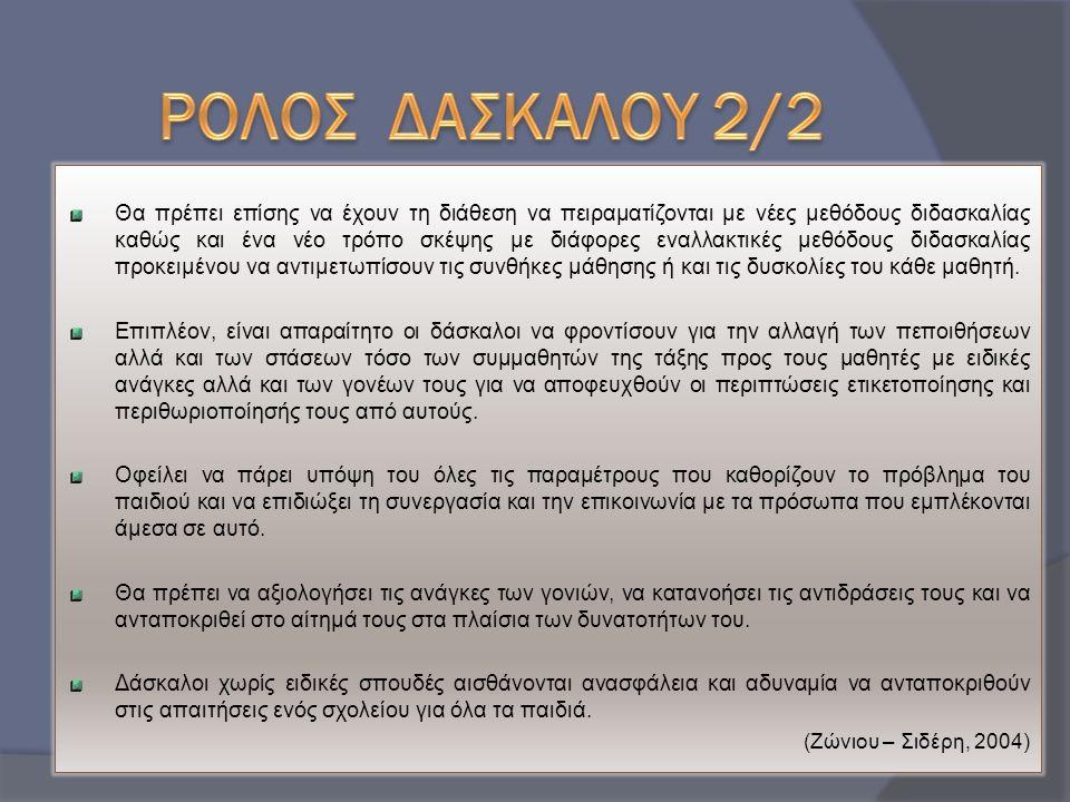ΡΟΛΟΣ ΔΑΣΚΑΛΟΥ 2/2