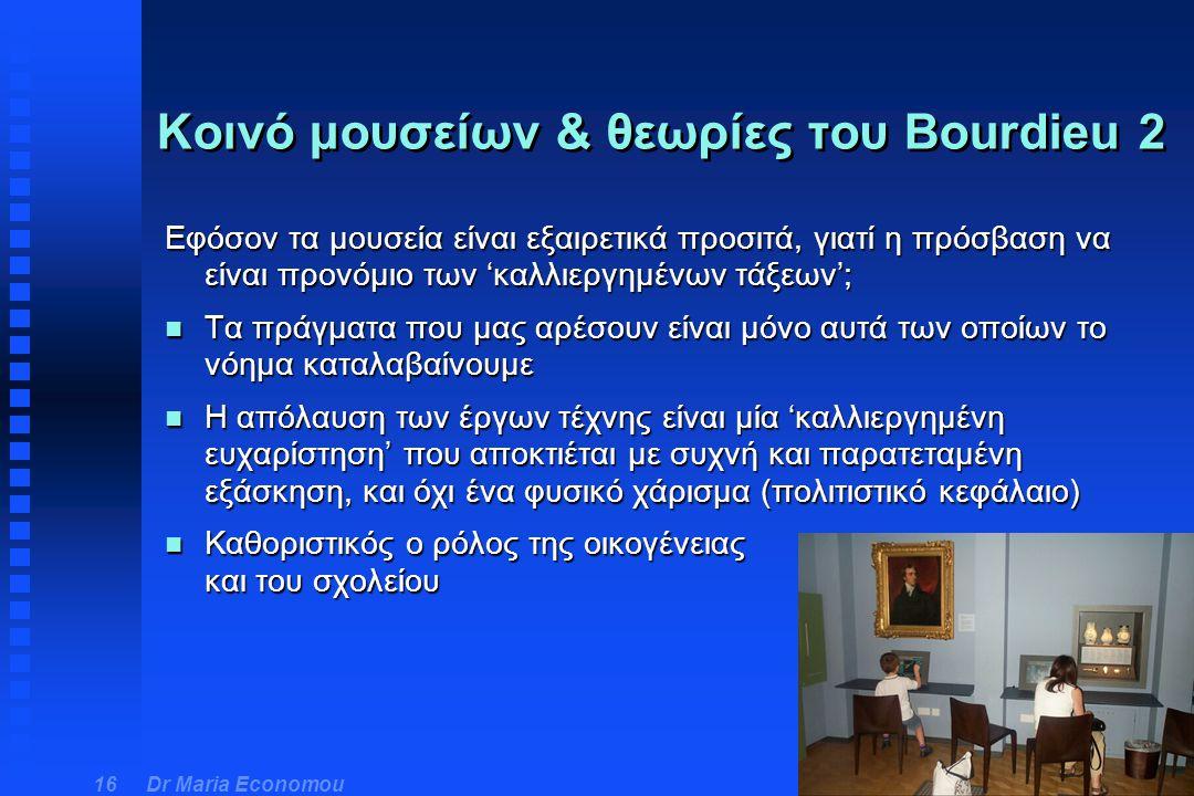 Κοινό μουσείων & θεωρίες του Bourdieu 2