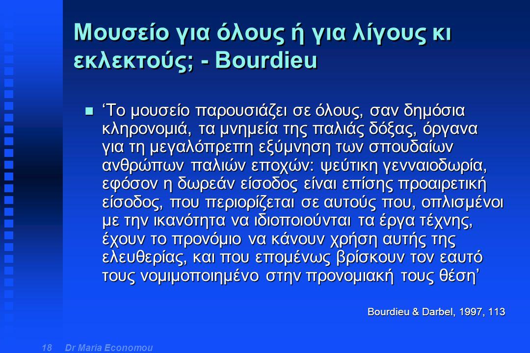 Μουσείο για όλους ή για λίγους κι εκλεκτούς; - Bourdieu