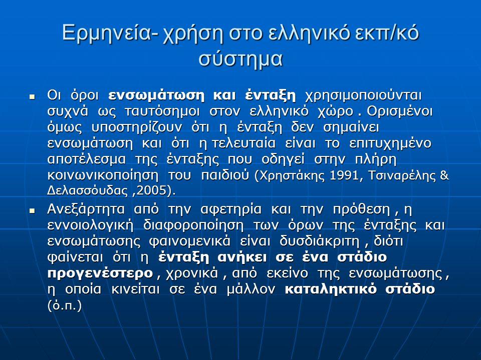 Ερμηνεία- χρήση στο ελληνικό εκπ/κό σύστημα