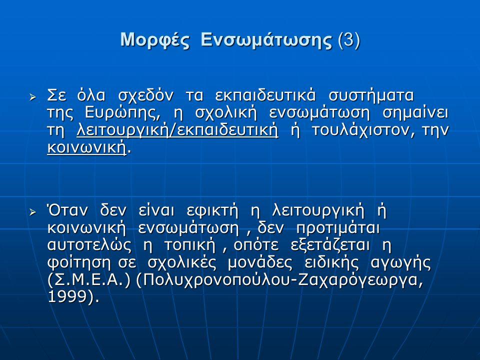 Μορφές Ενσωμάτωσης (3)