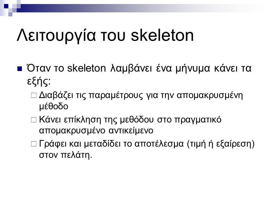 Λειτουργία του skeleton